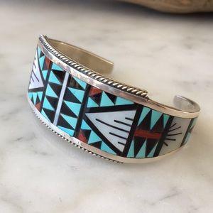 Vintage Zuni Native American Bracelet SD Boone